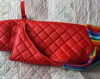 Custom Made, Water Resistant Quilted Dog Coat, pet clothing, dog winter coat