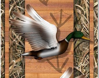 Duck Hunting Wood Plank Camo Cornhole Wrap Bag Toss Decal Baggo Skin Sticker Wraps