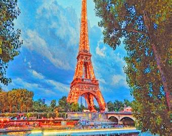 France photos, Paris photography,Home Decor Paris, , Eiffel Tower Photo, Photography Paris  Wall Art, Waterfront photo,   Eiff - Fine art