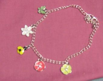 Spring ankle bracelet