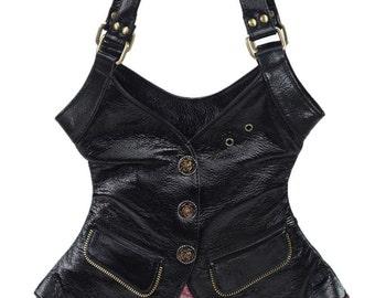 Unique shape vest waistcoat shape handbag/purse shoulder bag