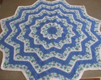 Blue star afghan