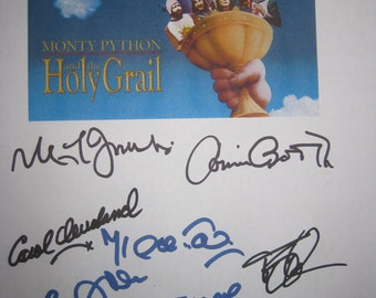 Monty Python and the Holy Grail Signed Movie Film Script Screenplay X9 Eric Idle John Cleese Terry Gilliam Graham Cleese Terry Jones Palin