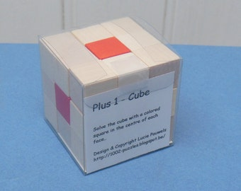 Plus 1 - Cube - Assembly puzzle in wood