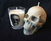 skull candle - soy wax  hand poured