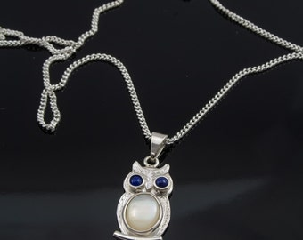 Silver Owl Pendant and chain