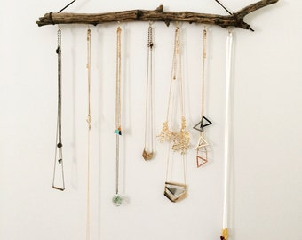Jewelry Hanger, Driftwood decor, Jewelry organizer, Bathroom organizer, Beach decor, Driftwood hanger, Accessory organizer