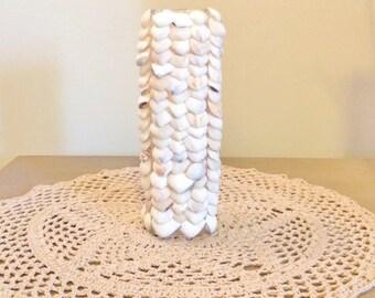 Seashell Vase / Beach Decor