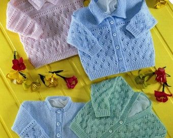 Baby Cardigans And Sweater, Knitting Pattern. PDF Instant Download.