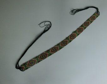 beadwork handmade for hatband, headband or belt, 50 cm