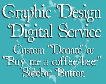 Graphic Design: Custom Donate Button for Blog Sidebar