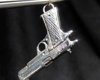 Sterling silver pendant Magnum Automatic Hand Gun
