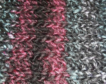 Infinity scarf brioche knitted.