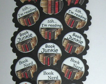 Books/Library/Reading Cupcake Toppers/Party Picks  (15pc Set) Item #1592