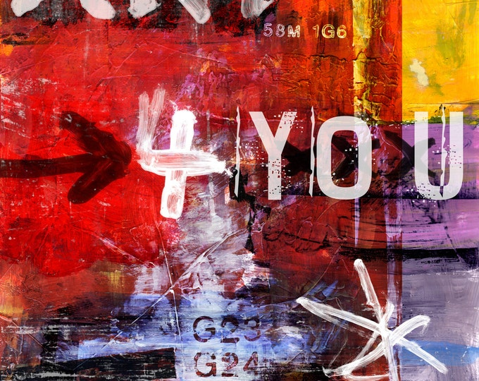 LETRA ART XXXIII by Sven Pfrommer - 100x100cm Artwork is ready to hang.