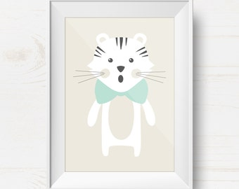 "Poster ""Little tiger"" illustration for children"