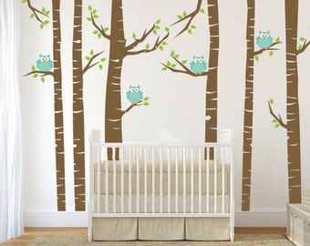 Owl Wall Decal Etsy - Wall decals kids roomowl tree branch photo frames wall decal removable wall stickers