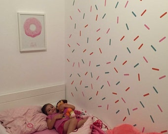 Sprinkles Wall Decal, Colorful Confetti - 2 colors, Removable Wall Sticker, Nursery wall decor
