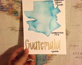 Guatemala Mixed Media Print