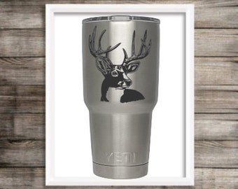 SVG Cut File Hand Drawn Buck Bust Deer Silhouette