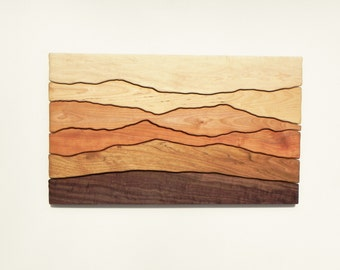 Mountain View, Wood Wall Art, Wall Decoration, Modern Wood Design, Wall Art, Modern Decor, Mountain art, Ridge, Hiking Gift