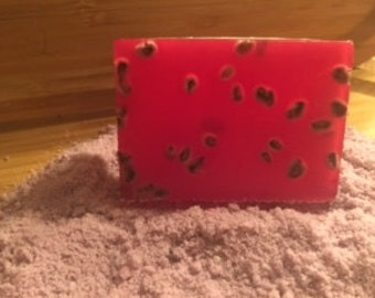 Pomegranate Handmade Goats Milk Detergent Free Soap 5 oz