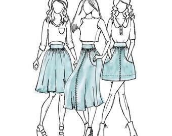 Megan Nielsen - Brumby Skirt