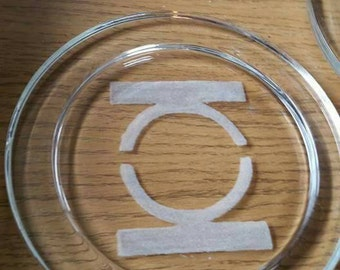 Glass coasters - hand Engraved