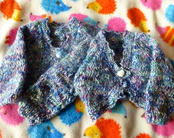 Two handmade cardigans for twin newborns/babies (0-6 months)