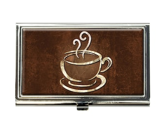 Coffee Cup Business Credit Card Holder Case