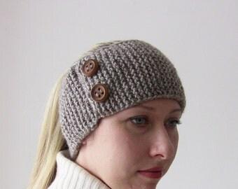 Brawn Warm Hair Band Earwarmer Cabled Ear Warmer Winter Headband Chunky Ear warmer Gift Women Teens