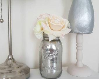 Mirror Glass  Painted Ball Mason Jar