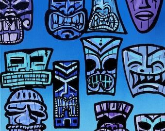 Tiki Party - Blue