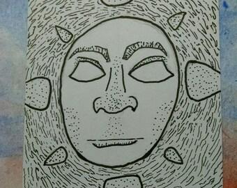 Radiant Soul | Original Art | Artist Trading Card | ACEO Illustration
