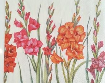 Decoupage FLORALS napkins paper, paper napkins for decoupage,serviette napkin,scrap booking & paper craft projects, photo frame