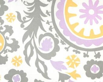 Lavender Suzani Minky Receiving Blanket | Faux Fur Baby Blanket