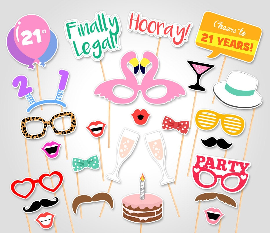 It's just a graphic of Peaceful Free Printable Photo Booth Props Birthday