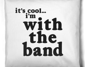 With The Band Reversible B/W Pillow