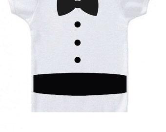 baby tuxedo onesie customizable