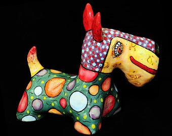 Pet Dog Ceramic Sculpture Scotch terrier | custom pet dog sculpture