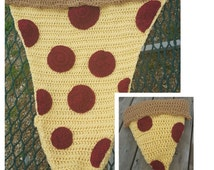 Lightweight Pizza Pillow Blanket Crochet Pattern