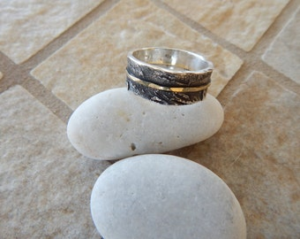 Sterling Silver and Gold 18K Ring