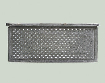 Vintage Zinc Storage Basket