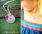 SALE - Personalized Girls Necklace - Heart Necklace - Little Girls Jewelry -  Kids Necklace - Birthday Gift  -Stocking Stuffer