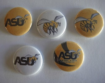Alabama State University Buttons Set of 15 - 3 of each