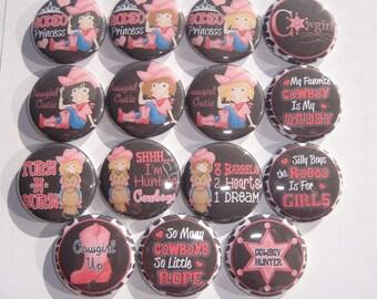 Rodeo Princess Buttons Set of 15