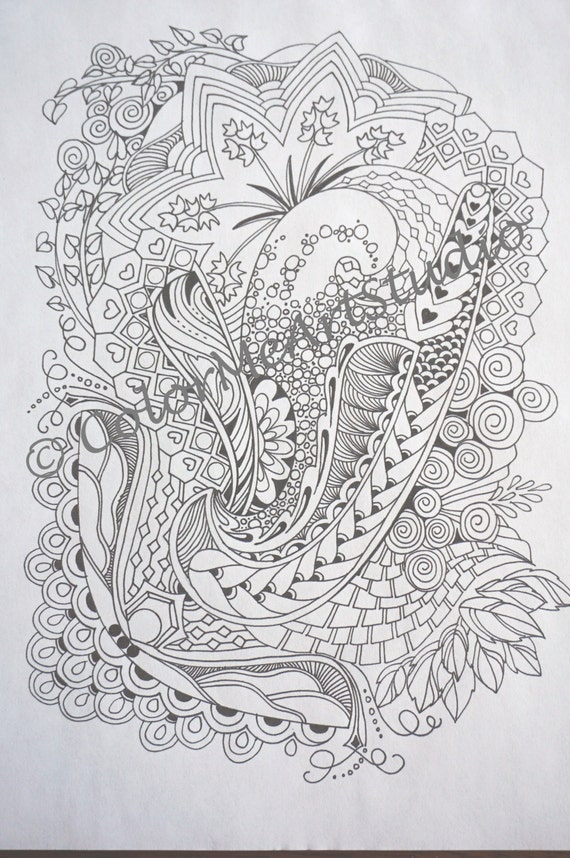 Zendoodle Coloring Page Printable Download By ColorMeArtStudio