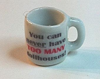 Miniature Coffee Cup for Miniaturists (CER016)