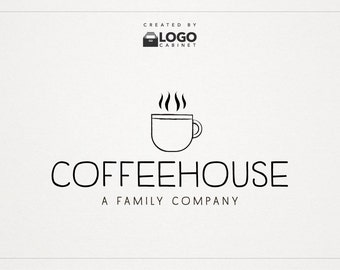 Coffee Logo - Cafe Logo - Shop Logo - Premade Logo - Modern Logo - Text Logo - Customizable / 014