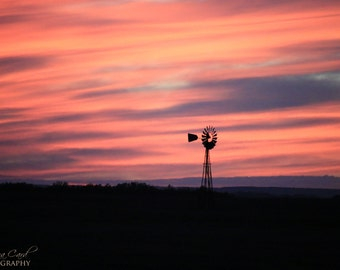 Windmill Photo, Sunset Photo